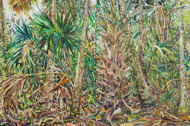 07Cumulative_Nature_Native_Palms_&_Orange_Tree_Diptych
