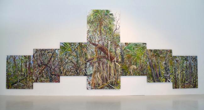 Work by Lilian García-Roig. Installation view at Museo Universitario del Chopo, Mexico City.